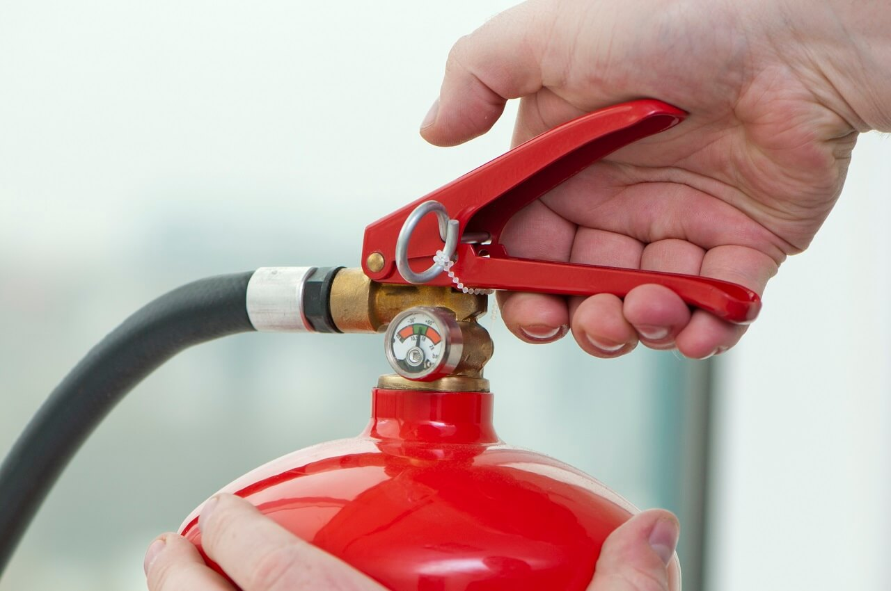 have an extinguisher on hand for fire safety in the home
